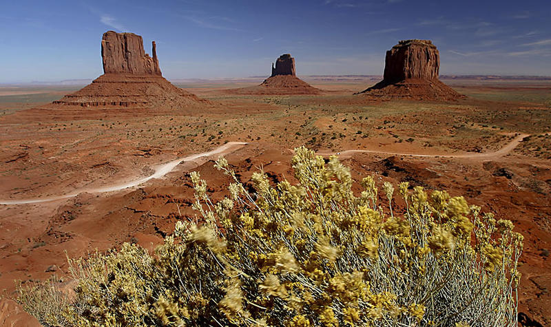 East and West Mitten Buttes, Monument Valley, Utah